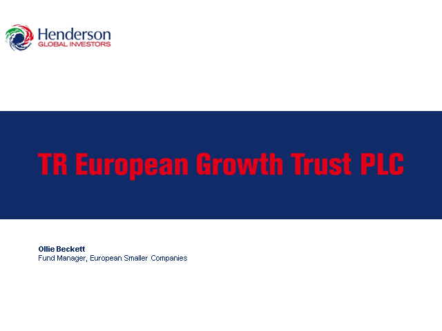 TR European Growth Trust - Webcast