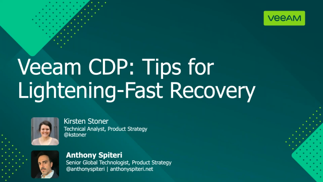 Veeam CDP: Tips for Lightning-Fast Recovery