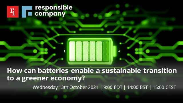 How can batteries enable a sustainable transition to a greener economy?