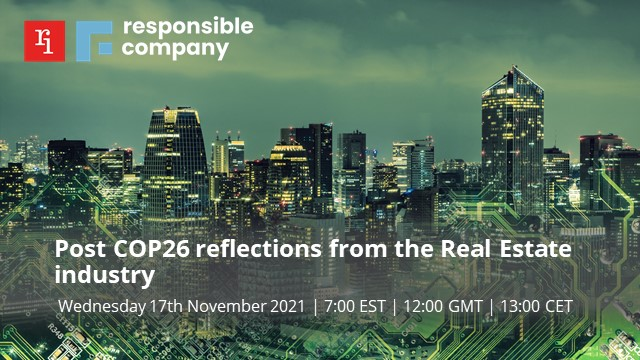 Post COP26 reflections from the Real Estate industry