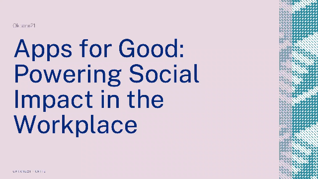 Apps for Good: Powering Social Impact in the Workplace