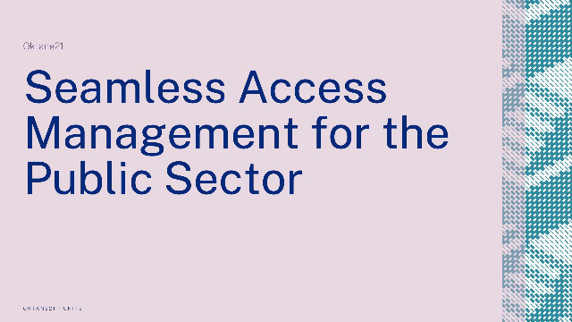 Seamless Access Management for the Public Sector