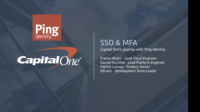 Town Hall: Capital One on Migrating PingFederate to AWS
