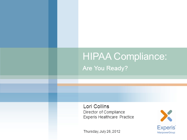 HIPAA Compliance: Are You Ready?