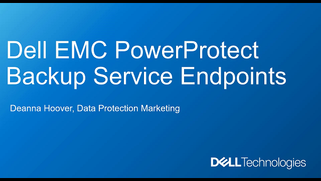 Dell EMC PowerProtect Backup Service for Endpoints