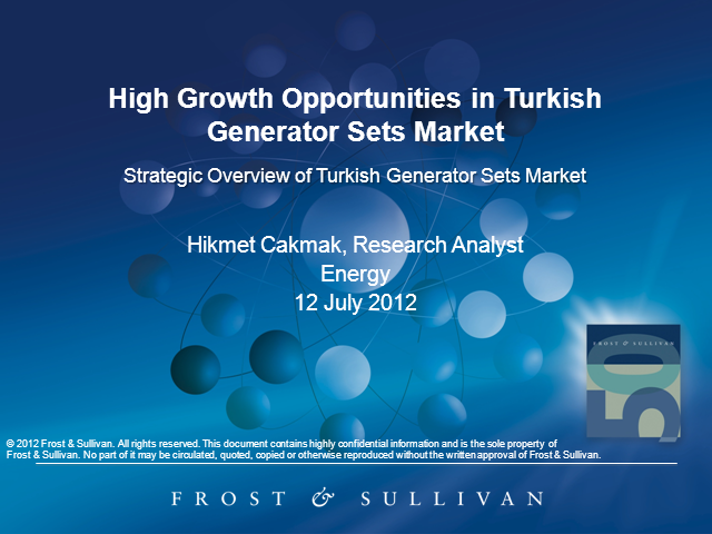 Strategic Overview of Turkish Generator Sets Market