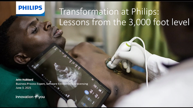 Change at Philips: lessons from the 3,000 foot level