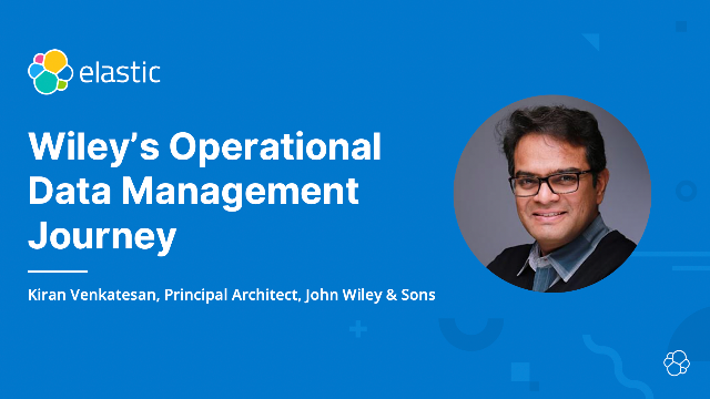 Wiley's Operational Data Management Journey
