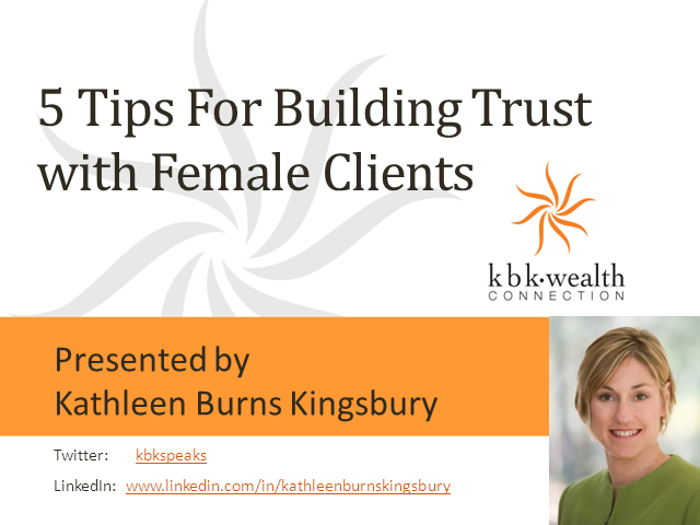 5 Tips for Building Trust with Female Clients