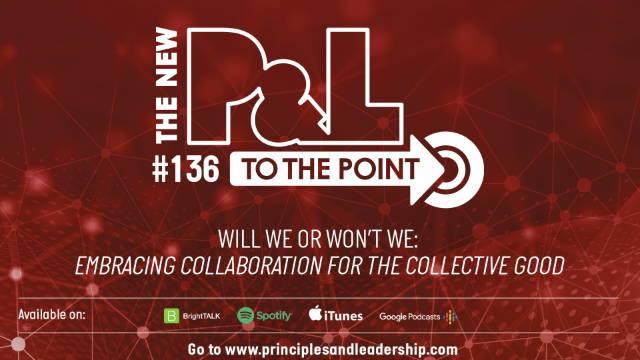 The New P&L TO THE POINT on embracing collaboration for the collective good