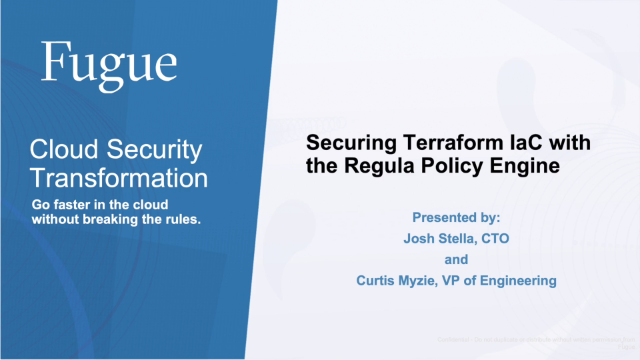 Securing Terraform with IaC with the Regula Policy Engine
