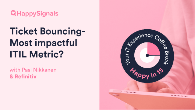 Ticket Bouncing - the most impactful ITIL metric?
