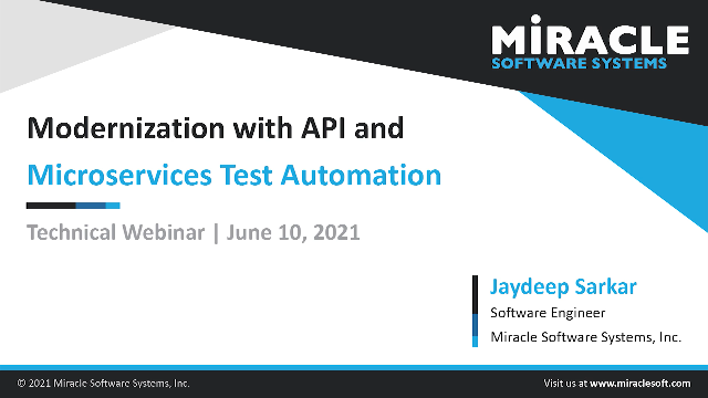 Modernization with API and Microservices Test Automation