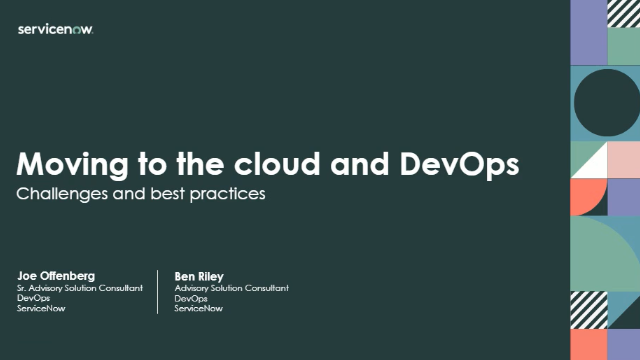 Moving to the Cloud and DevOps: challenges and best practices