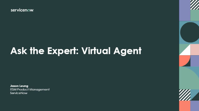 Ask the Expert: Virtual Agent