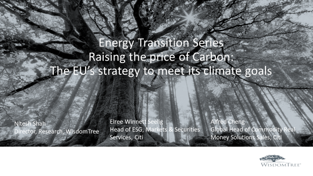 Energy Transition Part 1 Carbon: Raising the price of Carbon