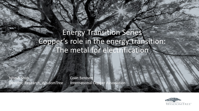 Energy Transition Part 3 Copper: The metal for electrification