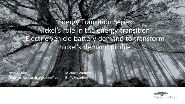 Energy Transition Part 4 Nickel: Electric vehicle battery demand for nickel