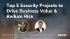 [APAC] Top 5 Security Projects to Drive Business Value & Reduce Risk