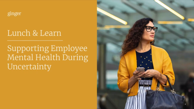 Supporting Employee Mental Health During Uncertain Times