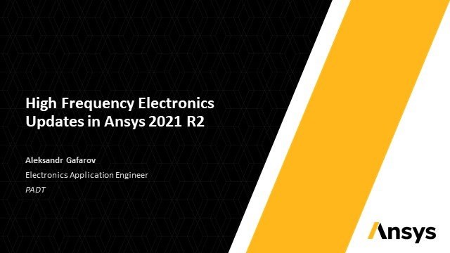 High Frequency Electronics Updates in Ansys 2021 R2
