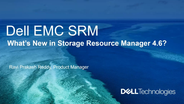 Manage your storage through a single pane with Storage Resource Manager 4.6
