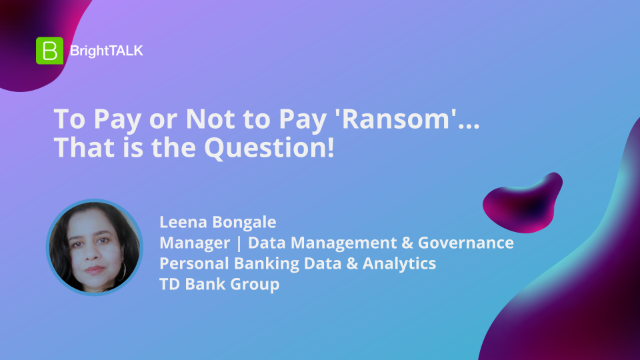 To Pay or Not to Pay 'Ransom'… That is the Question!