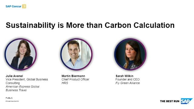 Travel Industry Summit - Sustainability is More than Carbon Calculation
