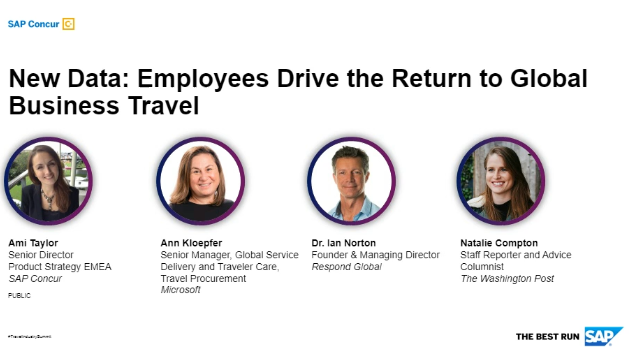Travel Summit - New Data: Employees Drive the Return to Global Business Travel