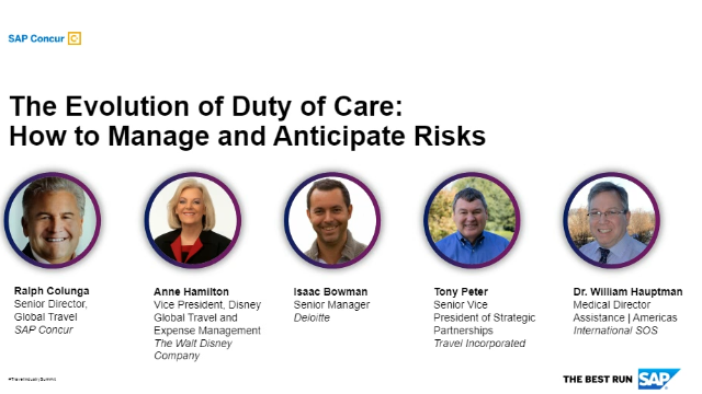 Travel Summit-The Evolution of Duty of Care: How to Manage and Anticipate Risks