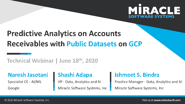 Predictive Analytics on Accounts Receivables with Public Dataset on GCP