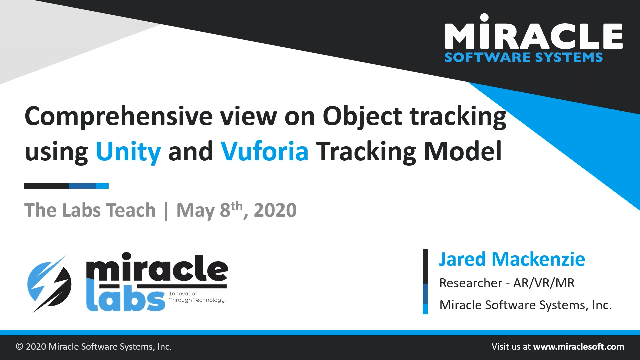 Comprehensive view on Object tracking using Unity and Vuforia Tracking Model