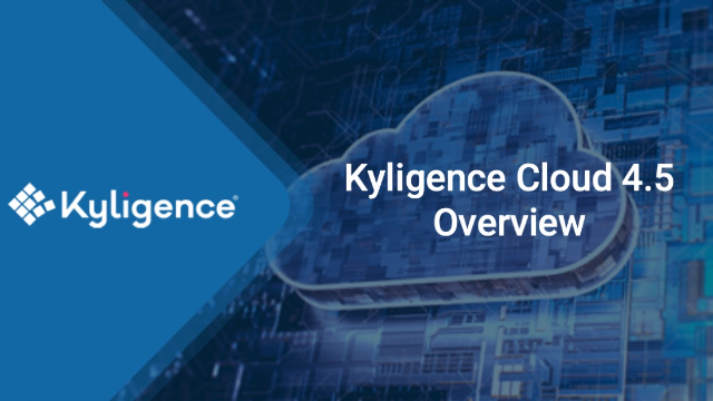 Kyligence Cloud 4.5 Overview