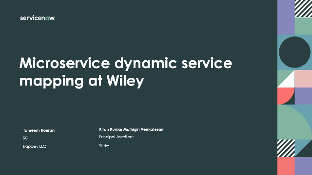 Microservice dynamic service mapping at Wiley