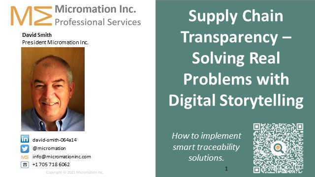 Supply Chain Transparency – Solving Real Problems with Digital Storytelling