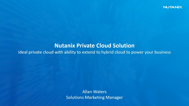 Building the Correct Private Cloud makes Getting to Hybrid Cloud Easy