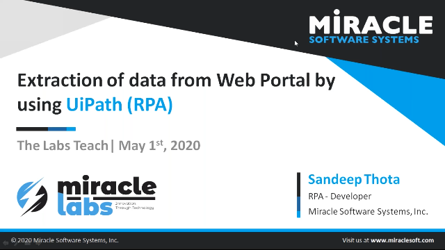 Extraction of data from Web Portal using UiPath (RPA)