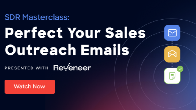 SDR Masterclass: Perfect Your Sales Outreach Emails