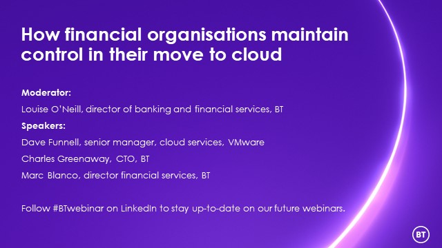 How financial organisations maintain control in their move to cloud