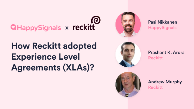 How Reckitt adopted Experience Level Agreements (XLAs)?