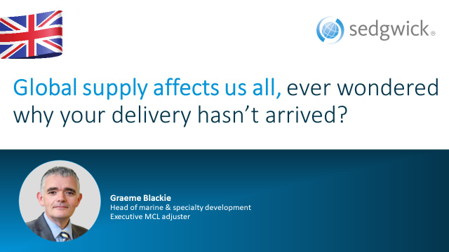 Global supply affects us all, ever wondered why your delivery hasn't arrived?