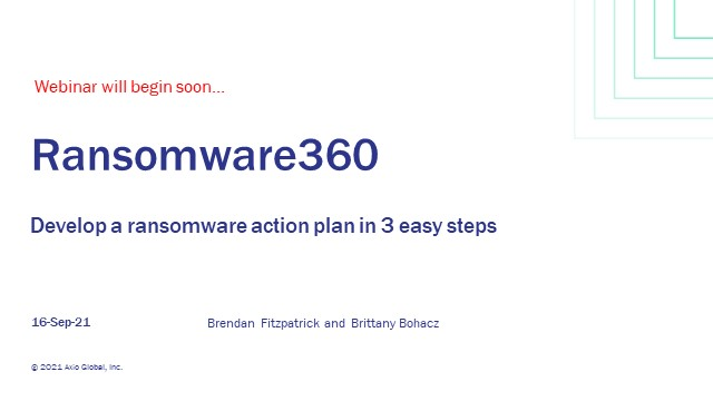 How to Build Your Ransomware Action Plan