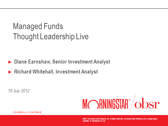 Multi Asset Sector Review: A Morningstar OBSR Overview