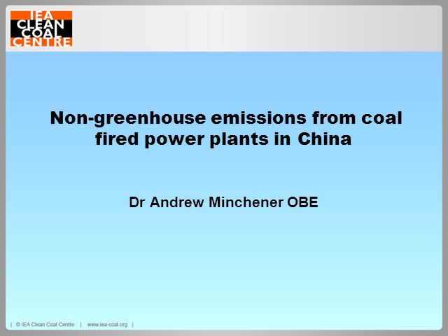 Non-greenhouse gas emissions from coal-fired power plants in China