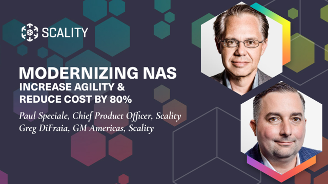 Modernizing NAS: increase agility & reduce cost by 80%