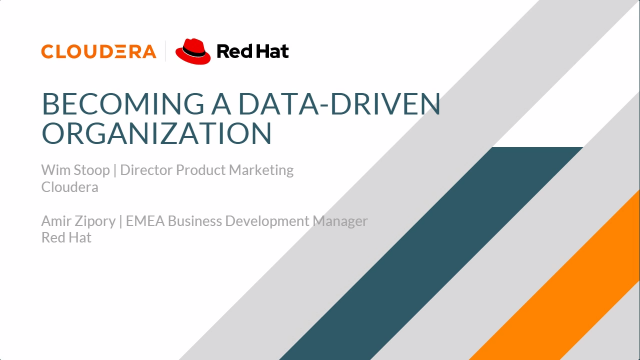 Becoming a data-driven company with CDP Private Cloud on Red Hat OpenShift