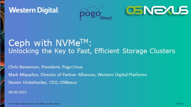 Ceph with NVMe: Unlocking the Key to Fast, Efficient Storage Clusters