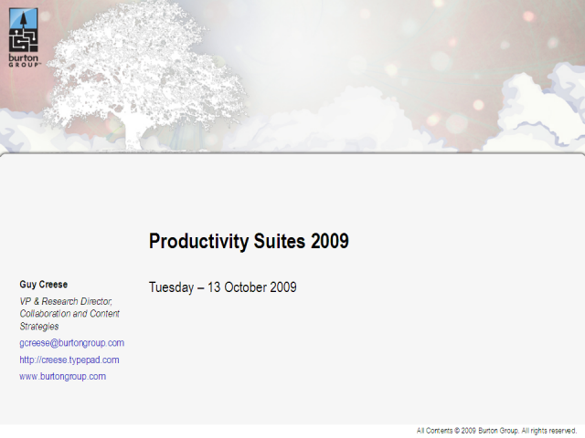 Productivity Suites 2009