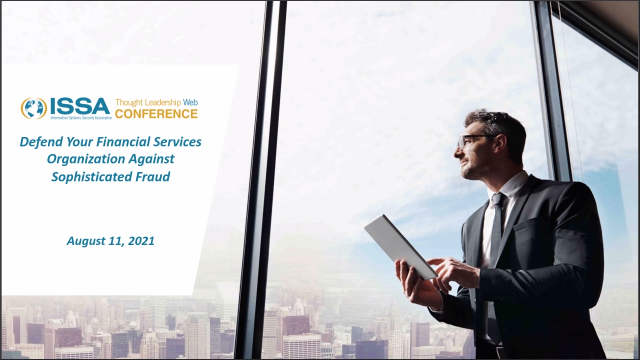 Defend your financial services organization against sophisticated fraud