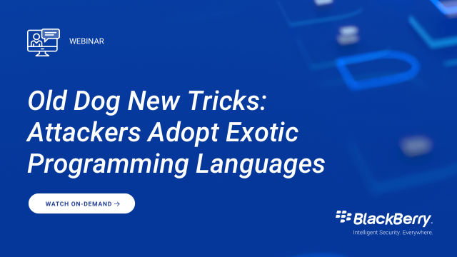 Old Dog New Tricks: Attackers Adopt Exotic Programming Languages